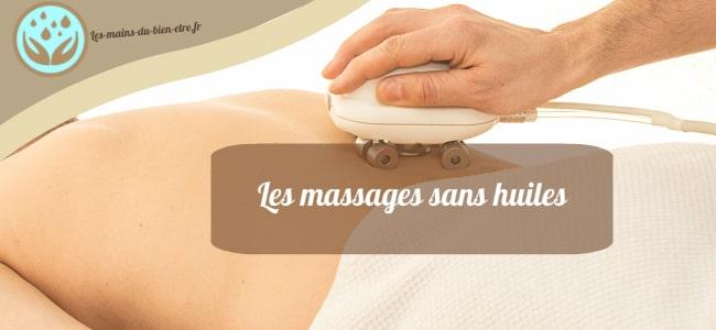 Les techniques de massage sans huile